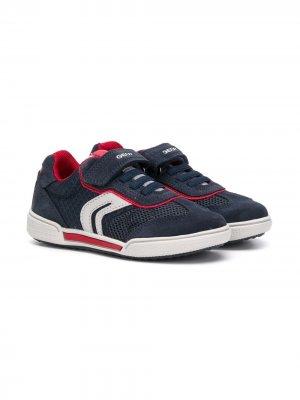 Кроссовки на липучках с контрастными вставками Geox Kids. Цвет: синий