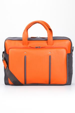 Briefcase bag Giorgio Fedon. Цвет: grey, orange