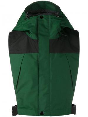 Непродуваемый жилет Facetasm. Цвет: зелёный