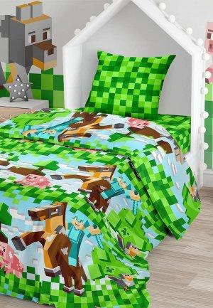 Постельное белье 1,5-спальное Juno Майнкрафт