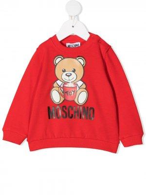 Толстовка Teddy Bear Moschino Kids. Цвет: красный