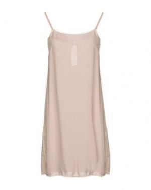 Короткое платье FAIRLY. Цвет: песочный