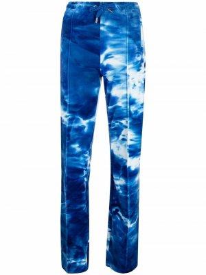 Джоггеры с принтом тай-дай и логотипом Juicy Couture. Цвет: синий