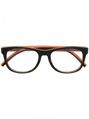 Очки в квадратной оправе Tommy Hilfiger. Цвет: коричневый