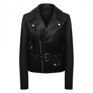 Кожаная куртка Helmut Lang. Цвет: чёрный