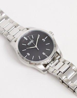 Серебристые наручные часы 1530016 Create-Серебряный HUGO