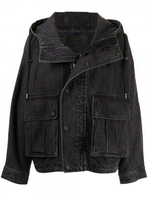 Джинсовая куртка с капюшоном SONGZIO. Цвет: синий