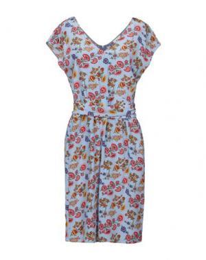 Короткое платье ATTIC AND BARN. Цвет: небесно-голубой