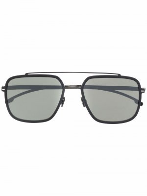 Солнцезащитные очки-авиаторы Reed Mykita. Цвет: черный