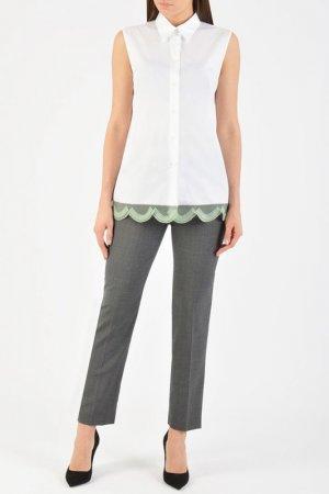 Рубашка Prada. Цвет: белый/зеленый