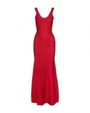 Длинное платье HERVÉ LÉGER. Цвет: красный