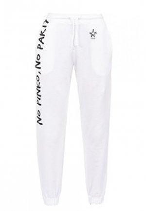 Спортивные брюки PINKO. Цвет: белый