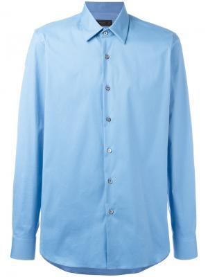 Классическая рубашка Prada. Цвет: синий