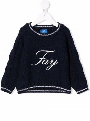 Logo embroidered jumper Fay Kids. Цвет: синий