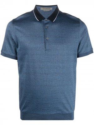 Рубашка поло с контрастным воротником Corneliani. Цвет: синий