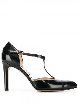 Туфли-лодочки с T-образным ремешком Antonio Barbato. Цвет: черный