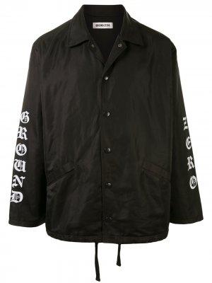 Куртка с логотипом Ground Zero. Цвет: черный
