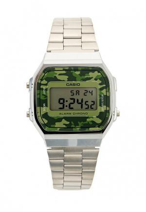 Часы Casio Collection A-168WEC-3E. Цвет: серебряный