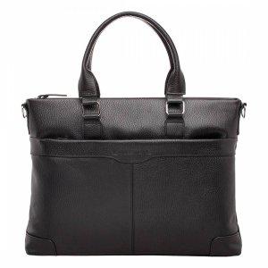 Кожаная деловая сумка для ноутбука Gilroy Black