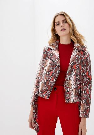 Куртка кожаная Softy. Цвет: разноцветный