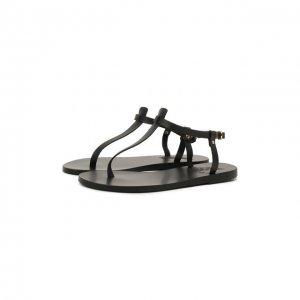 Кожаные сандалии Lito Ancient Greek Sandals. Цвет: чёрный