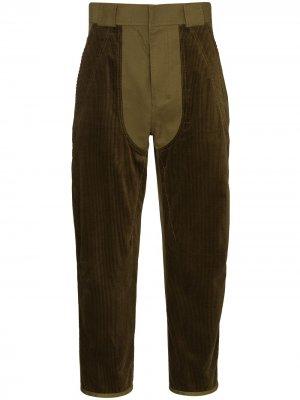 Укороченные брюки Beaumont Haider Ackermann. Цвет: зеленый
