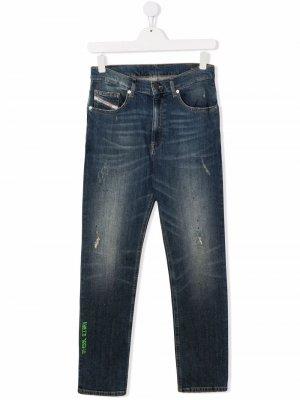 Зауженные джинсы D-Eetar Diesel Kids. Цвет: синий