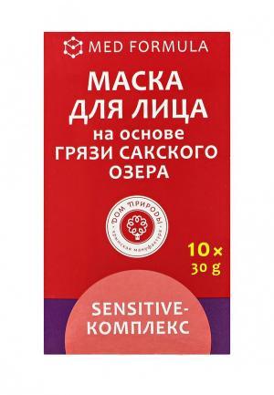 Набор масок для лица Мануфактура Дом Природы Sensitive-комплекс на основе грязи Сакского озера,на Сакской 10 саше