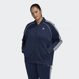 Олимпийка Primeblue SST (Plus Size) Originals adidas. Цвет: белый