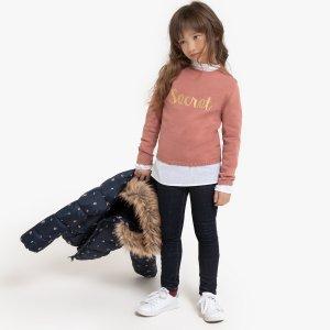 Пуловер LaRedoute. Цвет: розовый