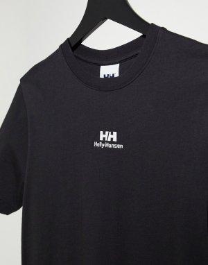 Черная футболка с логотипом YU Twin-Черный Helly Hansen