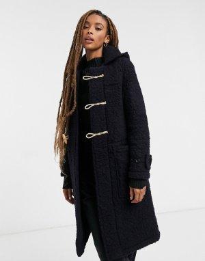 Темно-синяя куртка из овечьей шерсти -Темно-синий Gloverall