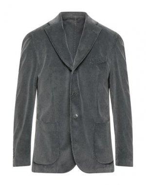 Пиджак LUIGI BIANCHI ROUGH. Цвет: свинцово-серый