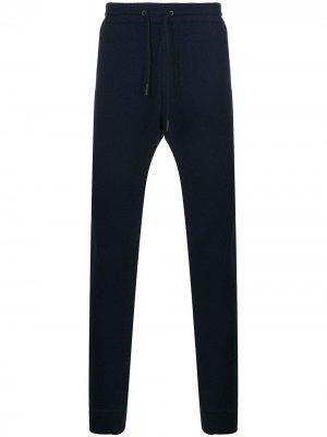Спортивные брюки с кулиской Ermenegildo Zegna. Цвет: синий