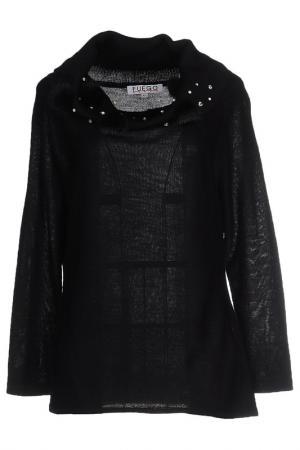 Блуза FUEGO WOMAN. Цвет: черный