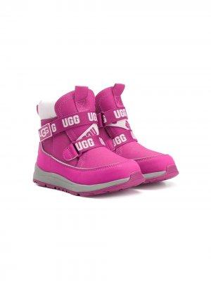 Ботинки с логотипом UGG Kids. Цвет: розовый