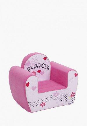 Игрушка мягкая Paremo Игровое кресло серии Инста-малыш, Радость. Цвет: розовый