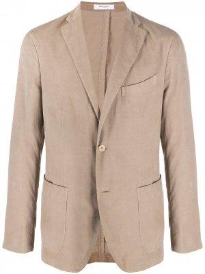 Пиджак узкого кроя Boglioli. Цвет: нейтральные цвета