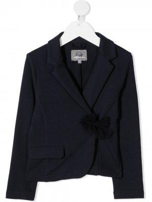 Пиджак строгого кроя с завязками сбоку Il Gufo. Цвет: синий