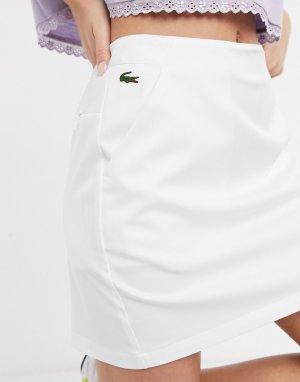 Белая мини-юбка с логотипом -Белый Lacoste