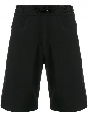 Плавки-шорты прямого кроя Aspesi. Цвет: черный