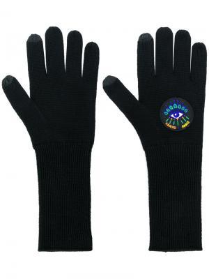 Перчатки Eye Kenzo. Цвет: чёрный