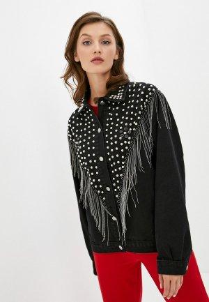 Куртка джинсовая TrendyAngel. Цвет: черный