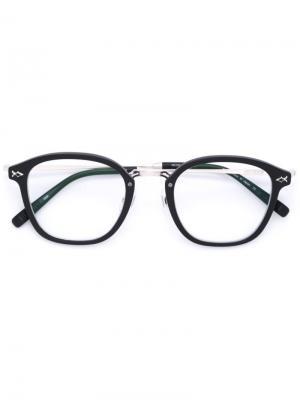Очки с квадратной оправой Matsuda. Цвет: чёрный