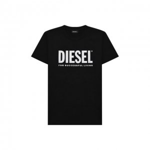 Хлопковая футболка Diesel. Цвет: чёрный