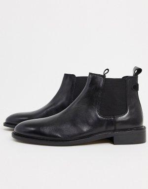 Черные кожаные ботинки челси -Черный Dune