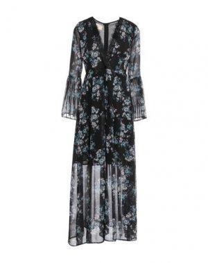 Длинное платье KAOS JEANS. Цвет: черный