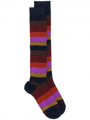 Высокие носки в полоску Altea. Цвет: синий