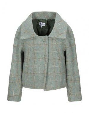 Пальто BINI Como. Цвет: светло-зеленый