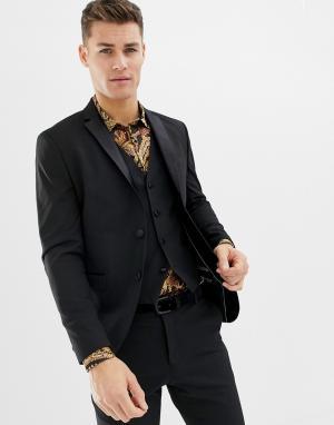 Приталенный пиджак-смокинг -Черный Selected Homme
